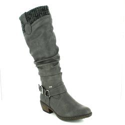 Rieker Boots - Long - Grey - 93756-42 BERNACUFF