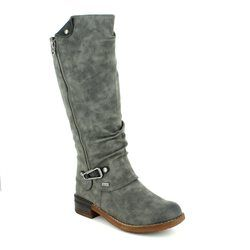 Rieker Knee High Boots - Grey - 94652-45 MORELIA TEX