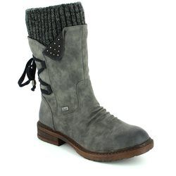 Rieker Boots - Long - Grey - 94773-45 FRESCOMID