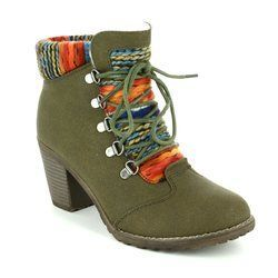 Rieker Boots - Ankle - Olive - 95323-54 PONCHO