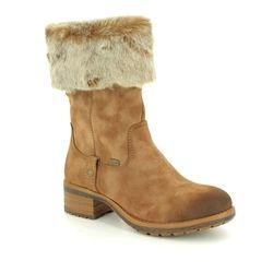 Rieker Knee High Boots - Tan - 96854-24 NEWLONG TEX