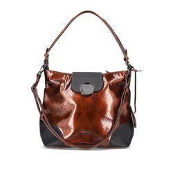 Rieker Handbags - Bronze patent - H1087-22 BRONZE TOTE DIS