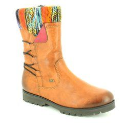Rieker Girls Boots - Tan multi - K0177-24 TINCHO TEX