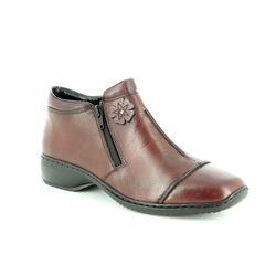 Rieker Boots - Ankle - Wine - L3888-35 DORBOFLO