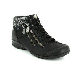 Rieker Boots - Short - Black - L4614-01 BIRBOTED TEX