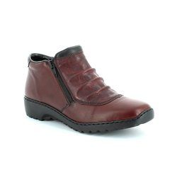 Rieker Boots - Ankle - Wine - L6052-35 BORBOTWIN