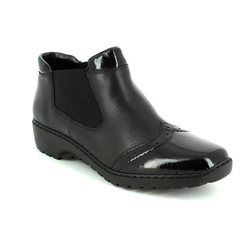 Rieker Boots - Short - Black - L6099-00 BORGUSS