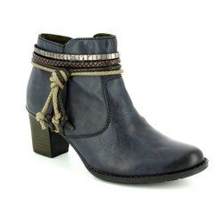Rieker Boots - Ankle - Navy - L7658-14 SALLOW