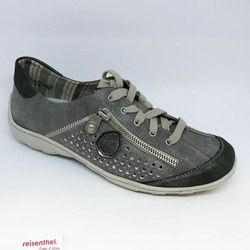 Rieker Comfort Lacing Shoes - Grey - M3705-45 LIVERDEE
