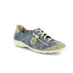 Rieker Comfort Lacing Shoes - Denim blue - M3724-60 LIVERDEE