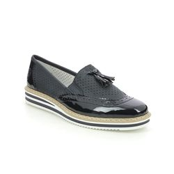 Rieker Loafers and Moccasins - Navy patent - N0257-14 KELTAS