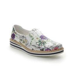 Rieker Loafers and Moccasins - Floral print - N0260-91 KELFLOR