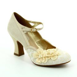 Ruby Shoo Heeled Shoes - Cream - 09089/75 AMELIA