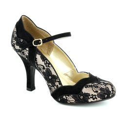 Ruby Shoo Heeled Shoes - Black multi - 09121/35 IMOGEN