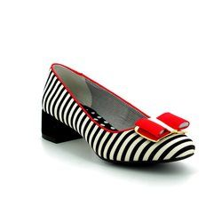 Ruby Shoo Court Shoes - Black-red combi - 09194/35 JUNE
