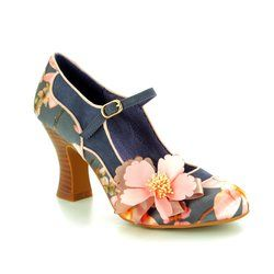 Ruby Shoo Heeled Shoes - Navy multi - 09158/70 MADELAINE