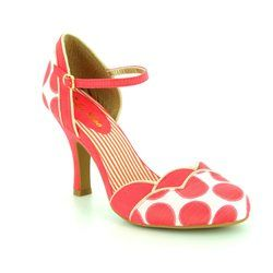 Ruby Shoo Heeled Shoes - Coral - 09176/85 PHOEBE