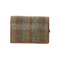 Shetland Tweed Purses & Wallets                        - Tan multi - 3115/20 3115