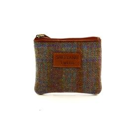 Shetland Tweed Purses & Wallets                        - Tan multi - 4106/20 4106    COIN