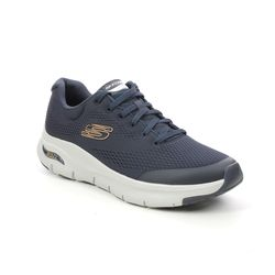 Skechers Trainers - Navy - 232040 ARCH FIT LACE MENS