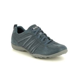 Skechers Comfort Lacing Shoes - Navy - 23812 BREATHE EASY RELAXED