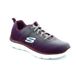Skechers Trainers & Canvas - Grey / Purple - 12763/564 BRIGHT SIDE