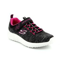 Skechers Girls Shoes - Black hot pink combi - 81906/553 BURST EQUINOX