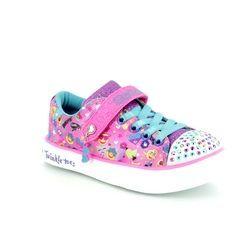 Skechers Girls Trainers - Pink - 10926 CHARACTER CUTI