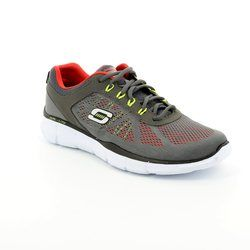 Skechers Trainers & Canvas - Grey-Red - 51358/00 DEAL MAKER