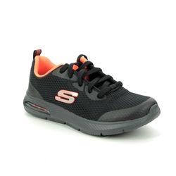Skechers Boys Trainers - Black orange - 98100L DYNA AIR PULSE