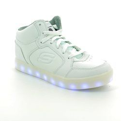 Skechers Boys Shoes - White - 90600/100 ENERGY LIGHTS