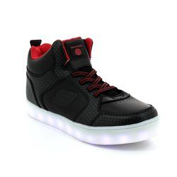 Skechers Boys Shoes - Black-red combi - 90604/649 ENERGY LIGHTS