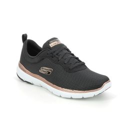 Skechers Trainers - Black Rose Gold - 13070 FIRST INSIGHT