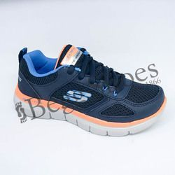 Skechers Boys Trainers - Navy-Blue - 97454/050 FLEX ADVANT JN