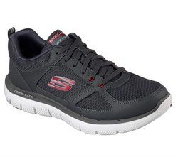 Skechers Trainers & Canvas - Grey-Red - 52189/544 FLEX ADVANTAGE