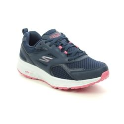 Skechers Trainers - Navy Pink - 128075 GO RUN CONSIST