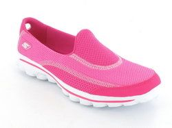 Skechers Trainers & Canvas - Hot Pink - 13590/06 GO WALK 2 13590