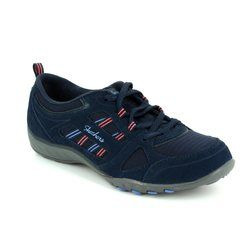 Skechers Comfort Lacing Shoes - Navy - 22544/417 GOOD LUCK