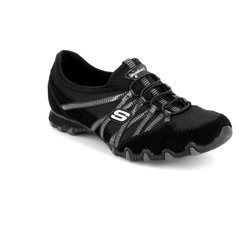 Skechers Comfort Lacing Shoes - Black-Grey - 21159/93 HOT TICKET BIK 21159