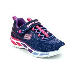 Skechers Girls Shoes - Navy multi - 10667/934 LITEBEAMS