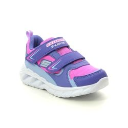 Skechers Girls Trainers - Purple Hot Pink - 302093N MAGNA LIGHTS