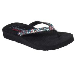 Skechers Toe Post Sandals - Black - 32918 MEDITATION YOGA