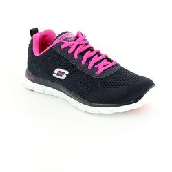 Skechers Trainers - Navy-Pink - 12058/87 OBVIOUS CHOICE