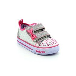 Skechers Girls 1st Shoes & Prewalkers - Silver hot pink - 10764/742 SHUFFLES ITSY