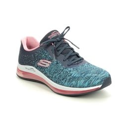 Skechers Trainers - Navy Pink - 149042 SKECH AIR DANCE