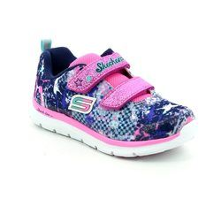 Skechers Girls 1st Shoes & Prewalkers - Navy multi - 82058/934 SKECH LITE