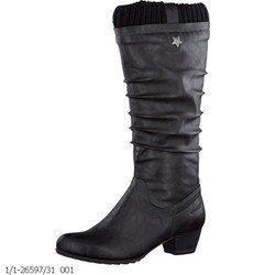 Tamaris Knee High Boots - Black - 26597/001 AVENS