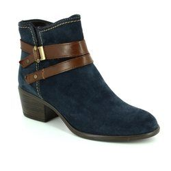 Tamaris Boots - Ankle - Navy suede - 25010/863 BECKA 72