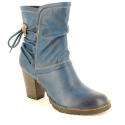 Tamaris Boots - Ankle - Navy - 25359/805 CANESALACE