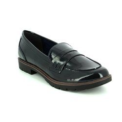 Tamaris Loafer / Moccasin - Navy patent - 24600/805 CRISSY